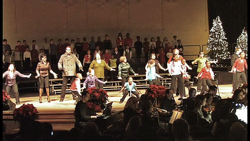 """""""Toys"""" musical theatre performance at Crossroads Community Cathedral Christmas Concert"""