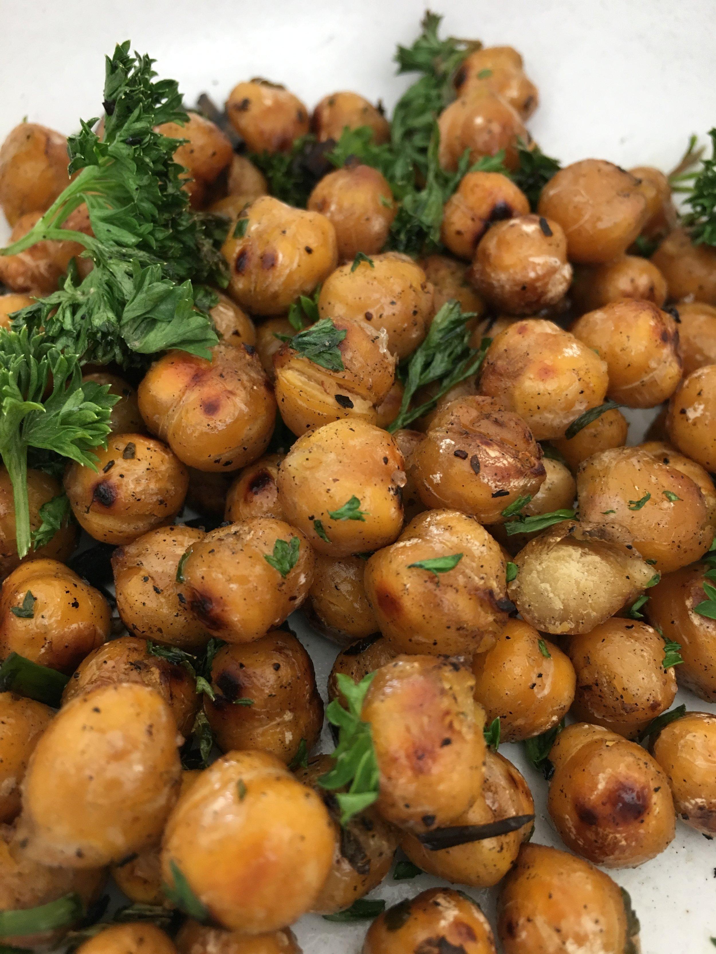 Herbed chickpeas for savory snack!