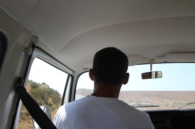 LUIS, OWNER OF ALDEIA DA PEDRALVA, DRIVING US AROUND SAGRES IN A VINTAGE VW