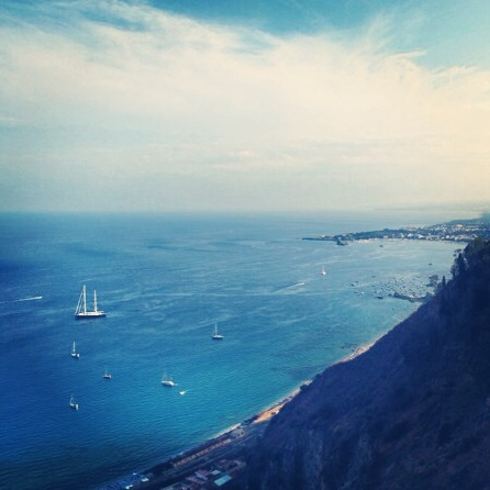 In Taormina, you get to take in one of the three beautiful seas that surround Sicily, the cool Ionian Sea.