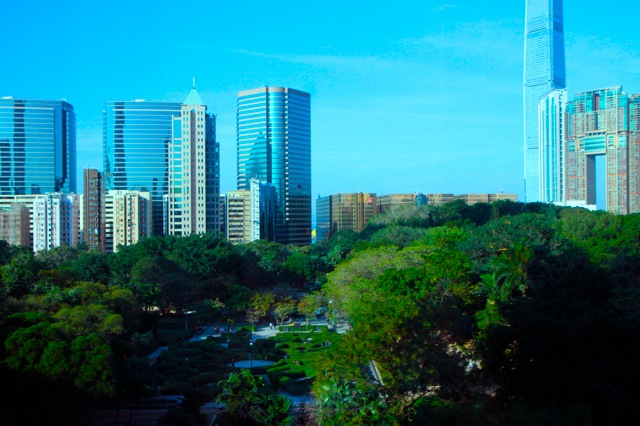 THE VIEW FROM MY ROOM: THE KOWLOON PARK.