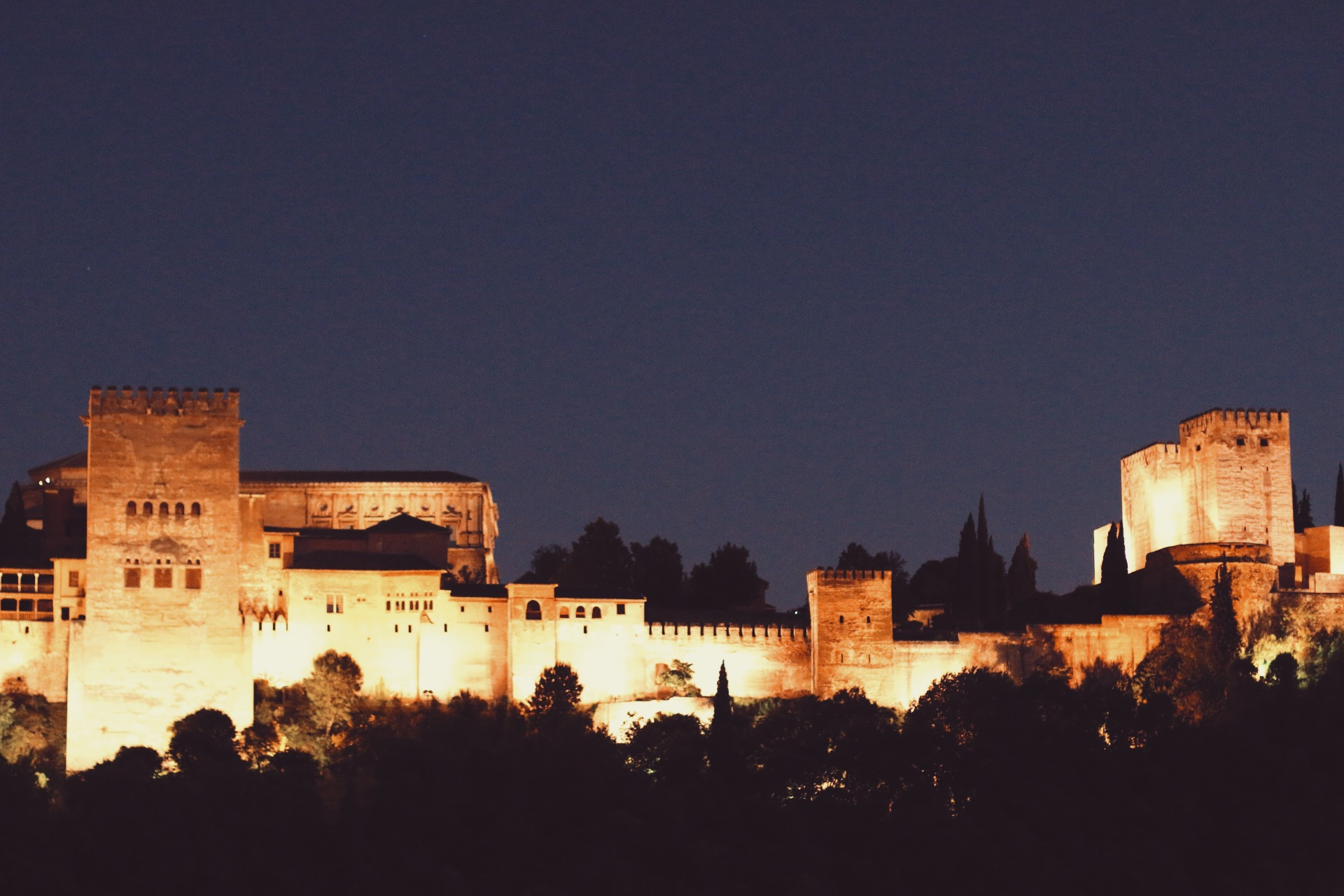 THE ALHAMBRA AFTER SUNDOWN