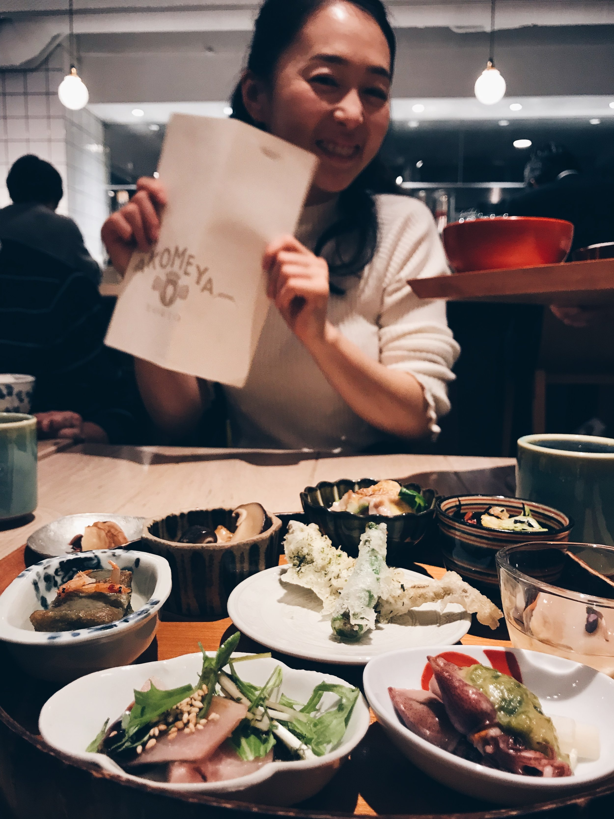 My old friend Eri from Tokyo (the cutest, sweetest human-being!) who recommended this gem