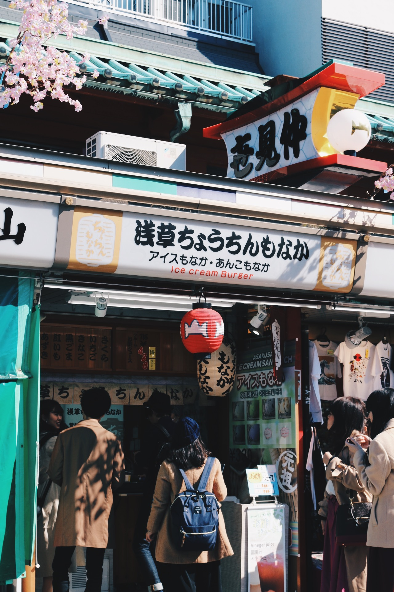 Ice cream burgers at Nakamise street
