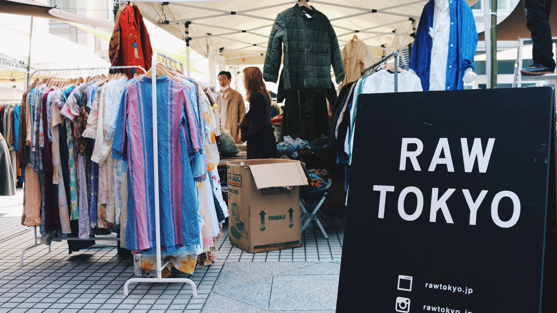 At the back is an awesome vintage clothing market called RAW Tokyo. So good!
