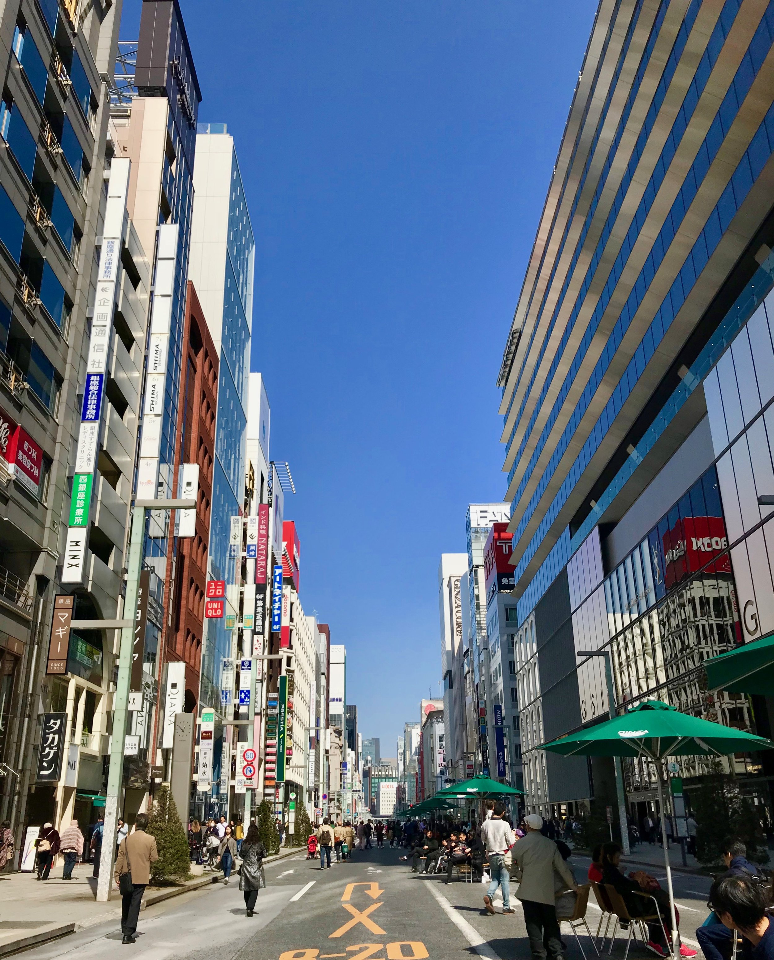 Ginza's pedestrian only strip on the weekends