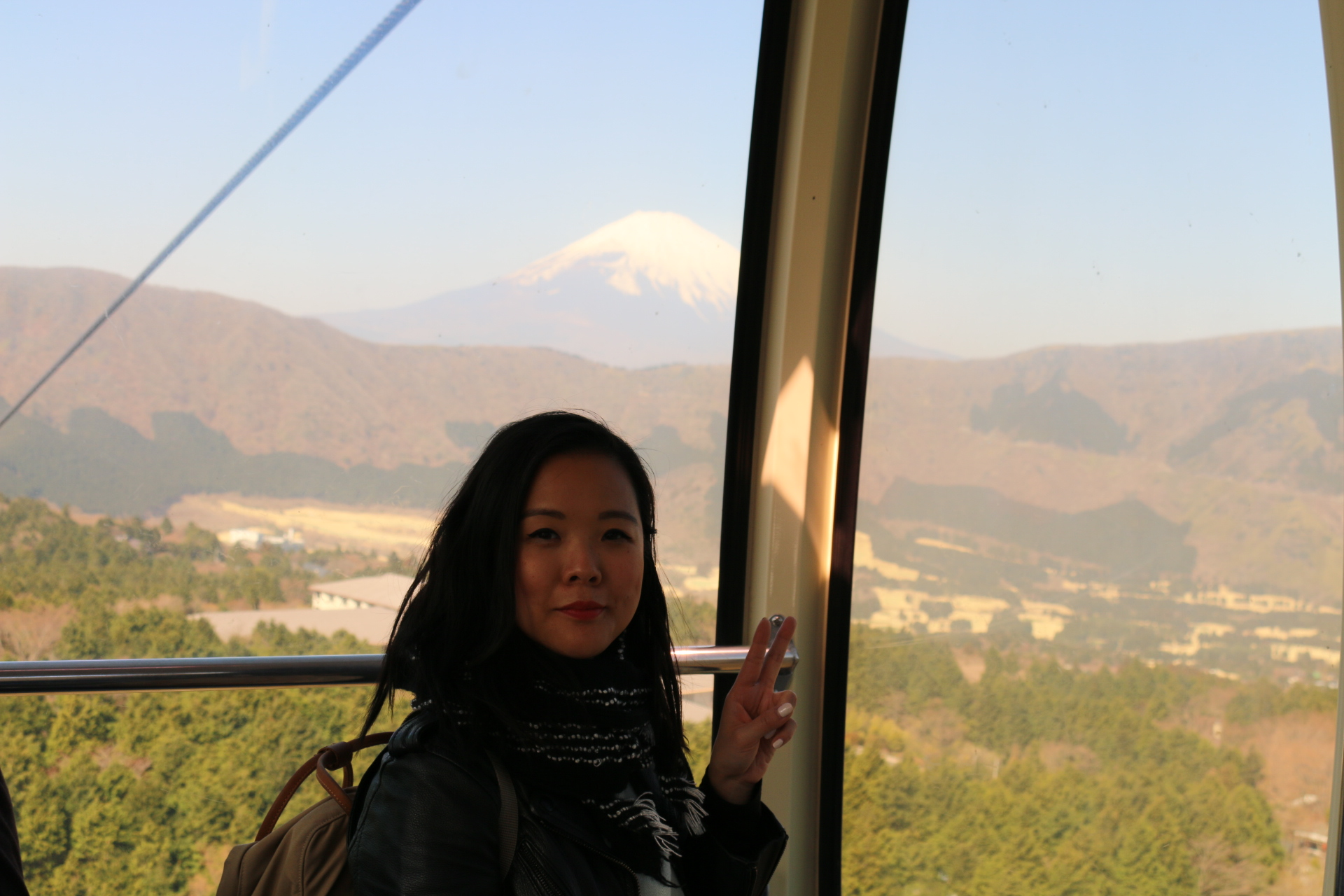 On the Hakone Ropeway with the star attraction