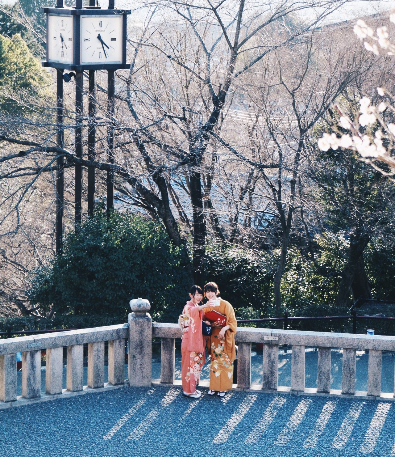 Kiyomizu-dera is massive and you can catch cute moments like this in every pocket