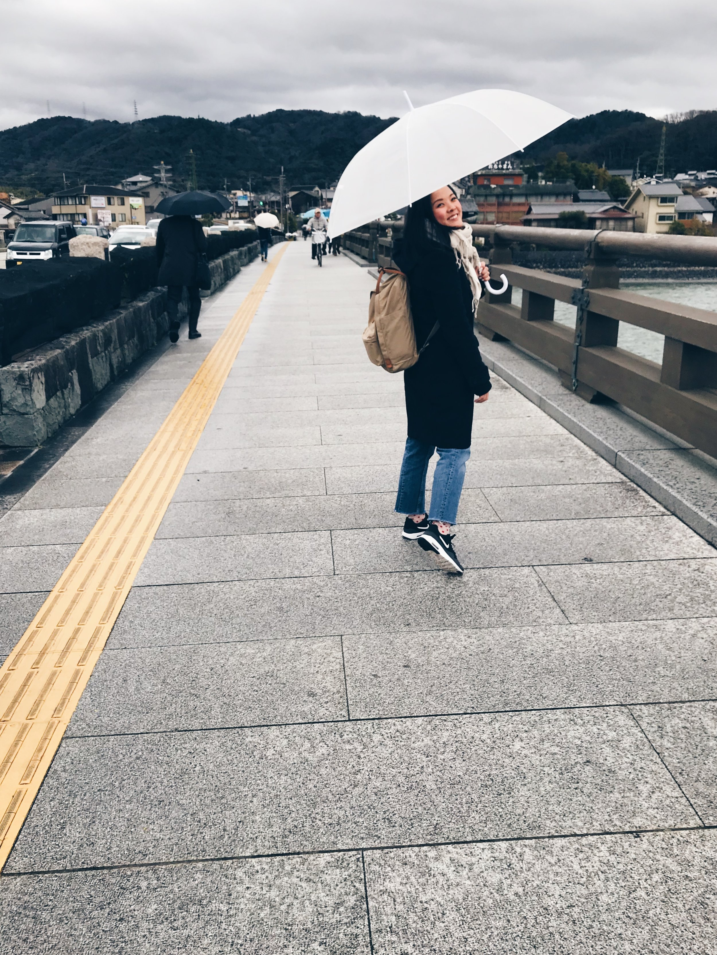 It was a rainy day in Uji