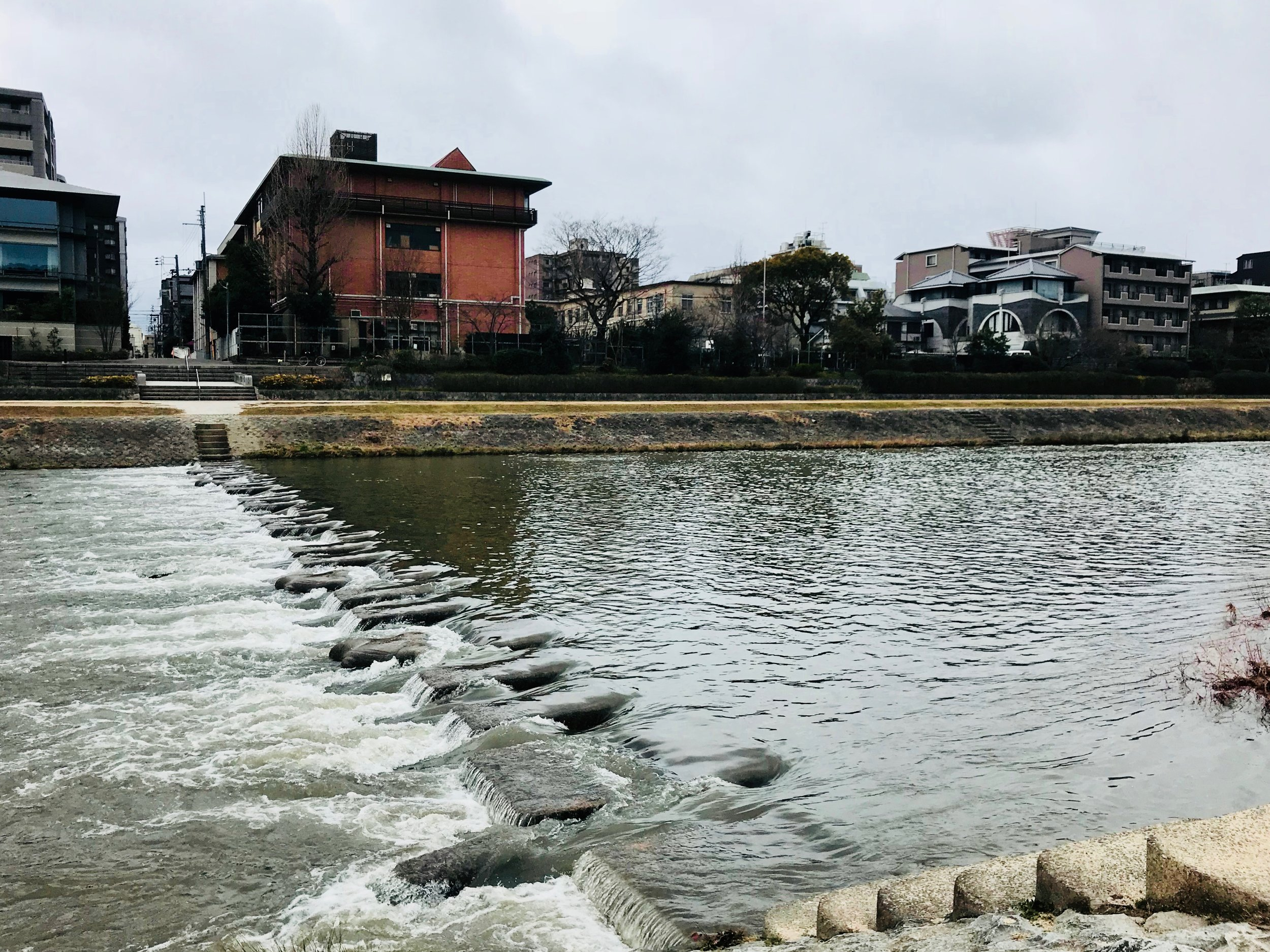 Stepping Stones by the Kamogawa River