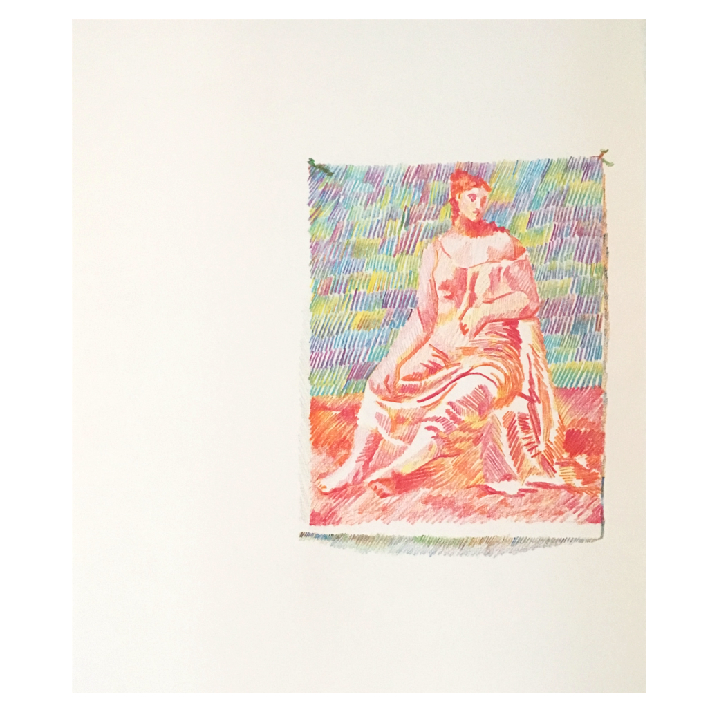 Seated Figure (After Picasso)