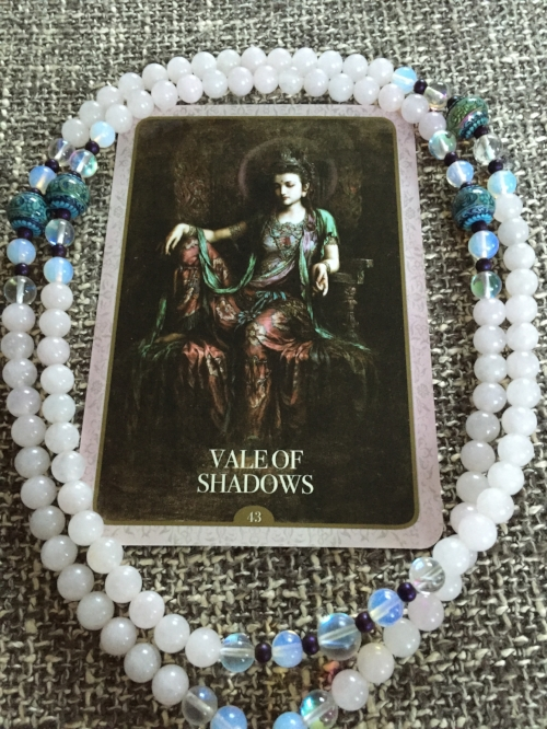 Kuan Yin Oracle  by Alana Fairchild. Mala by  Yoga Mamma's Magical Malas