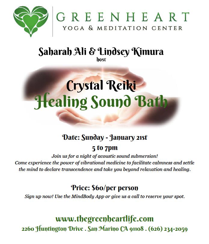 Crystal Reiki Healing Sound Bath