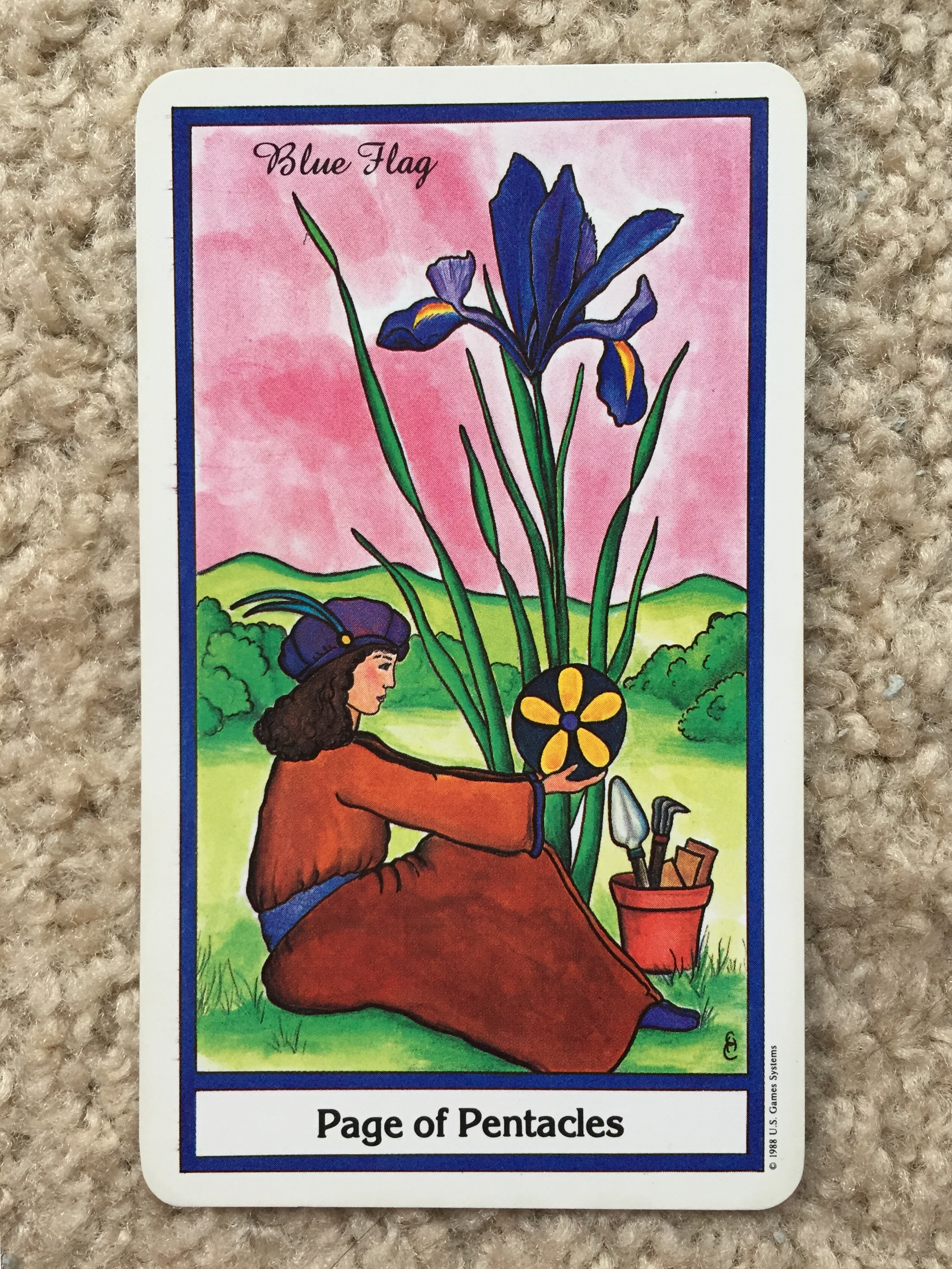 Page of Pentacles from The Herbal Tarot