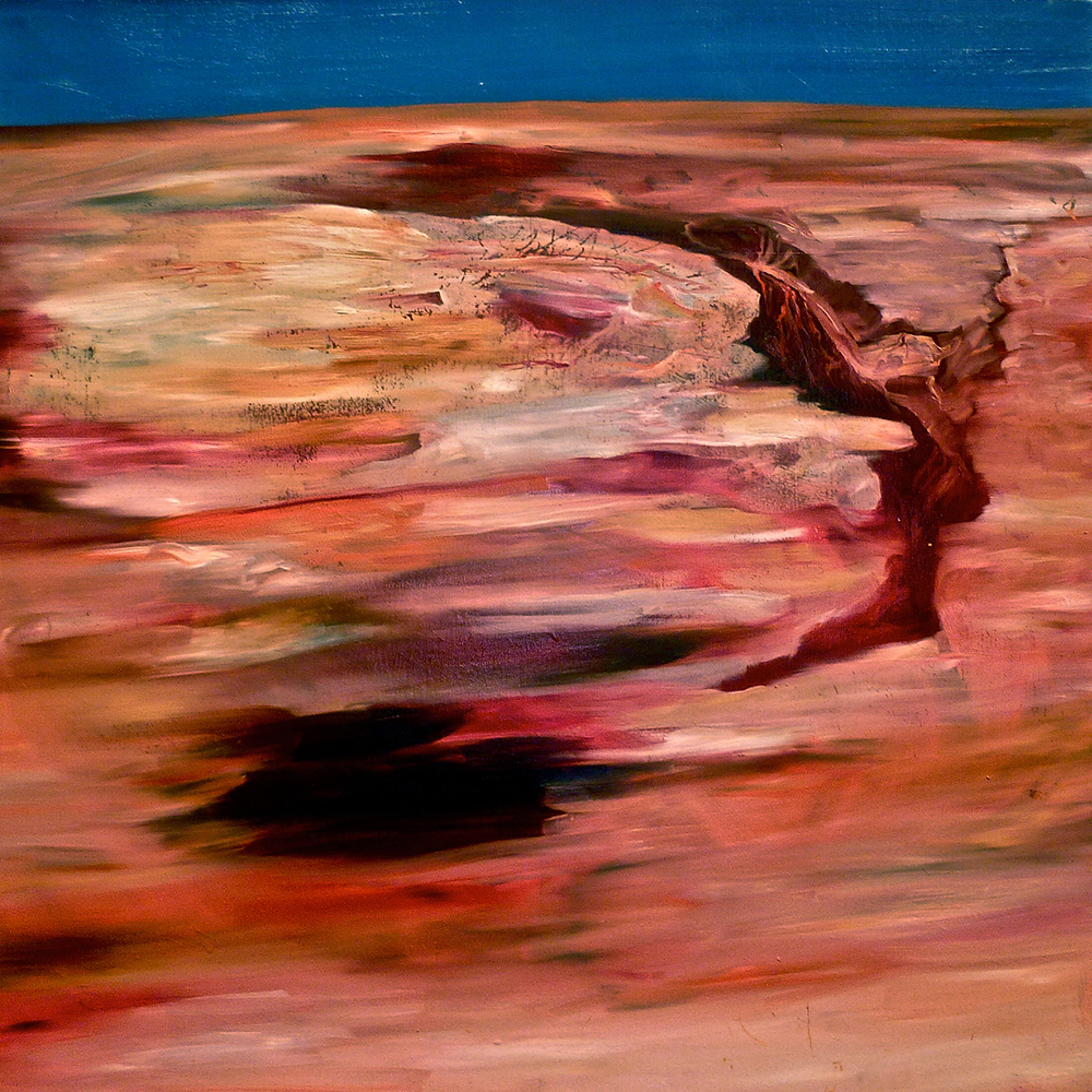 Landscape 1   2011  Oil on canvas. 24 x 24""