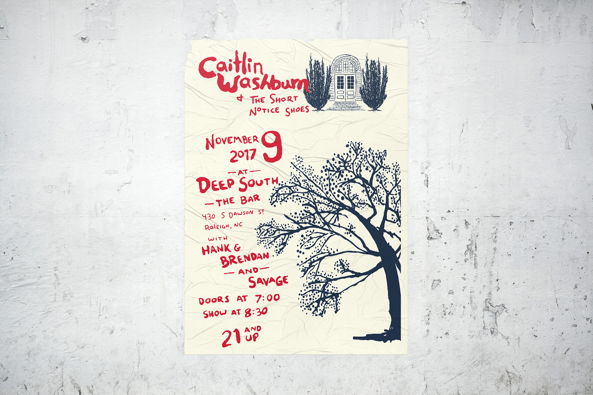 Event poster for Caitlin Washburn