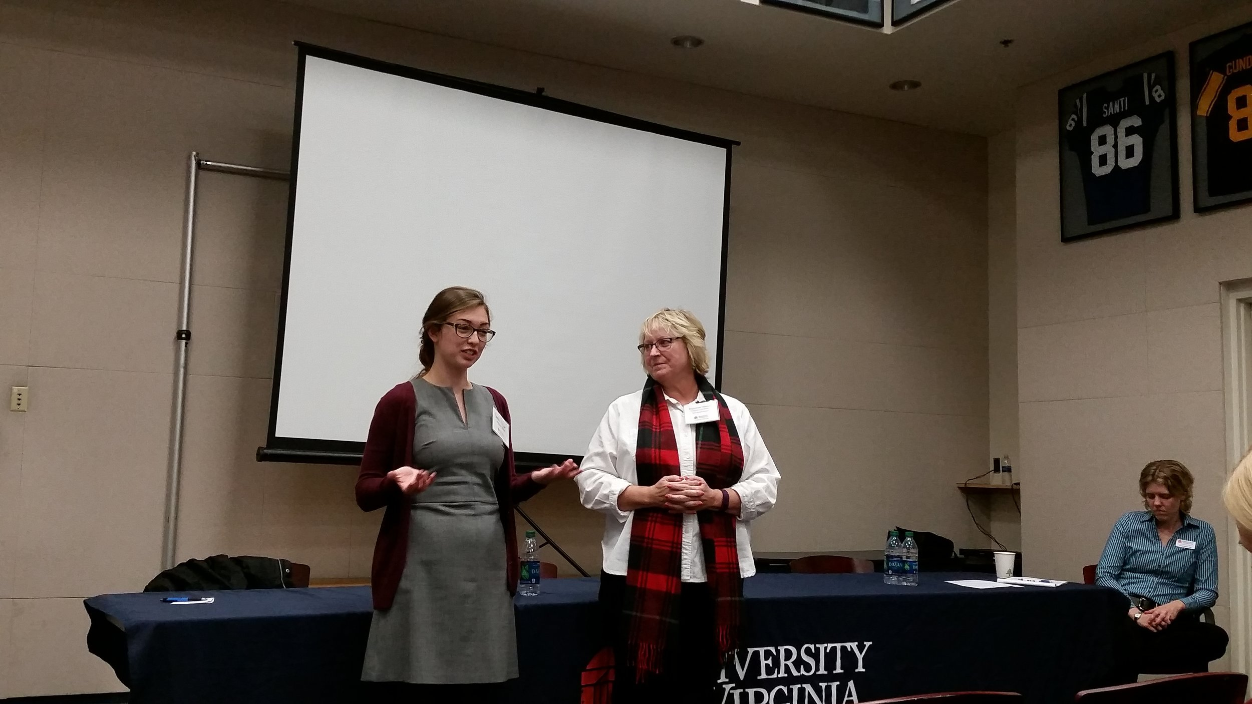 Sarah Olijar, UVA student and Madison House Head Program Director, presented on volunteer management.