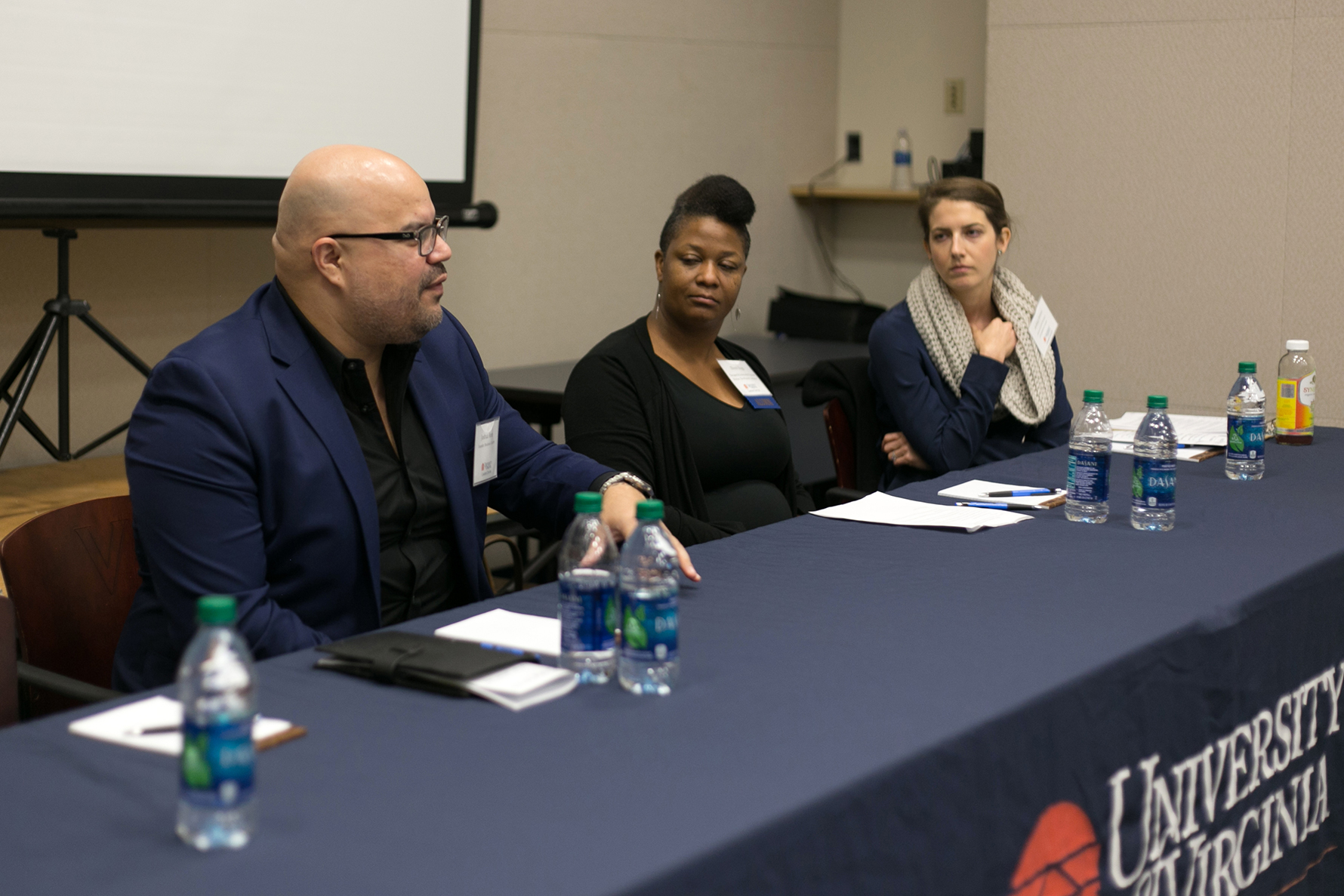 Sarad Davenport, Executive Director of City of Promise, answered questions from UVA students in attendance.