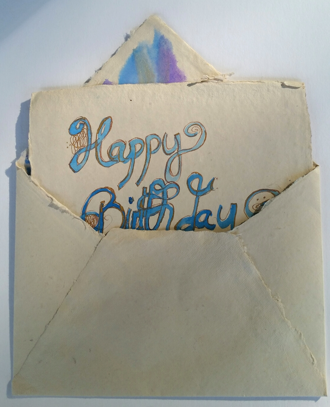 "This is the back of the card with the ""Happy Birthday"" message."