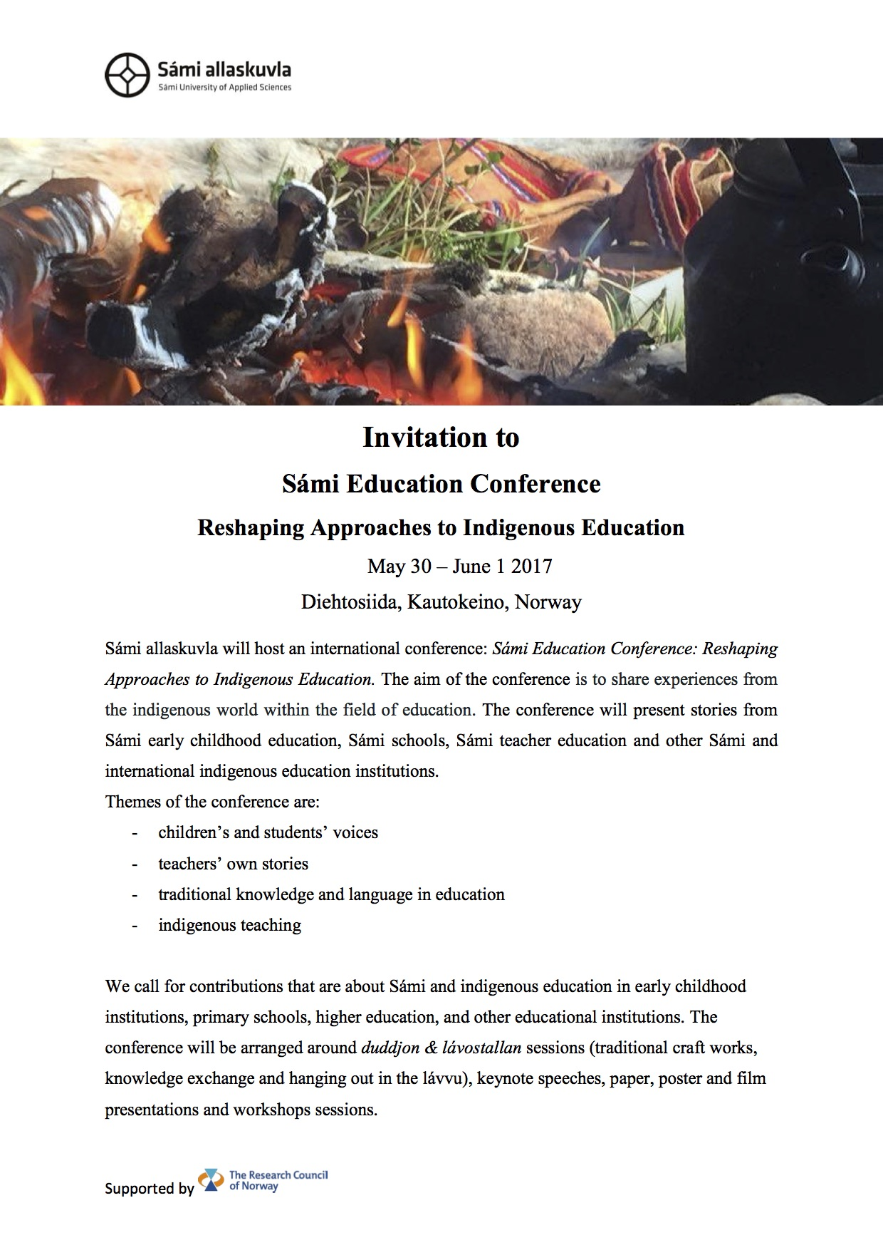 Invitation to Sámi Education Conference 2017 May 30 - June 1.jpg