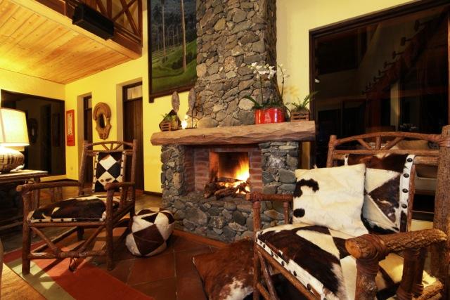 Fireplace Villa Cielo Alterra Jarabacoa