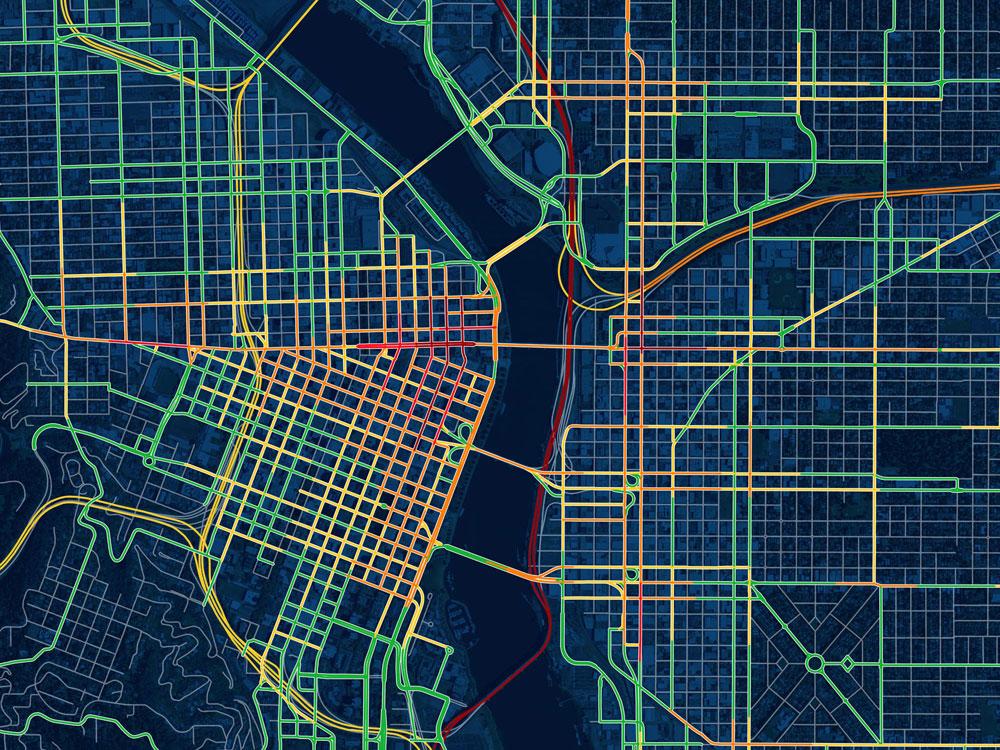 Portland Drunk Traffic. Doug McCune 2015.