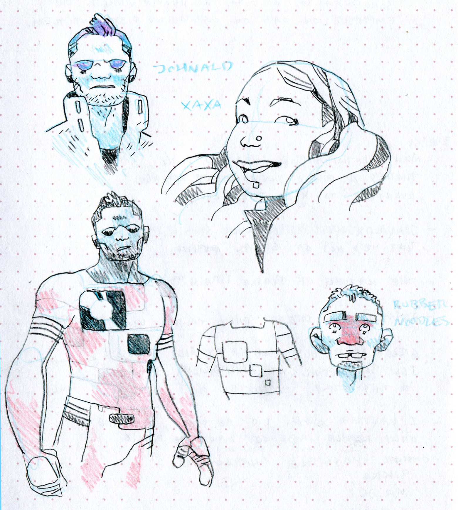 supporting cast sketches