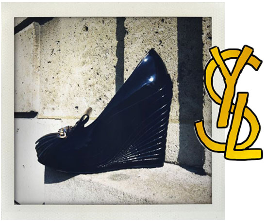11.15am, Hotel Salomon de Rothschild, YSL's best glossy shoe: