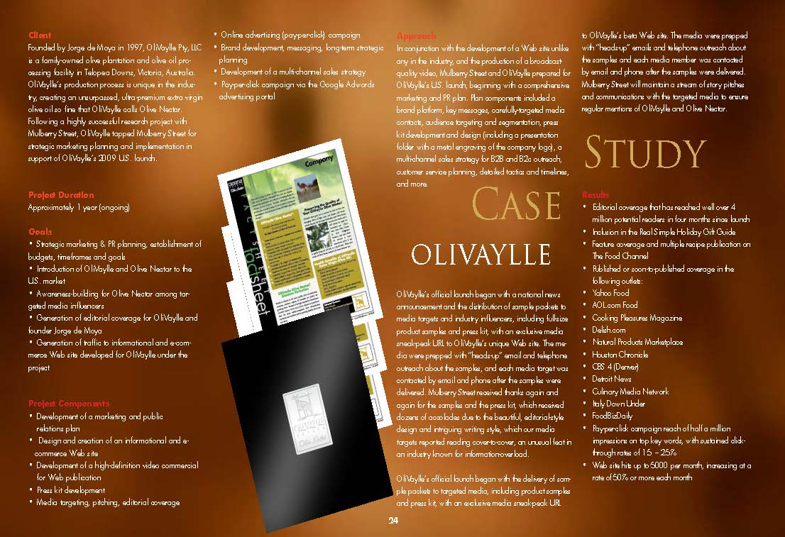 case study packaged food