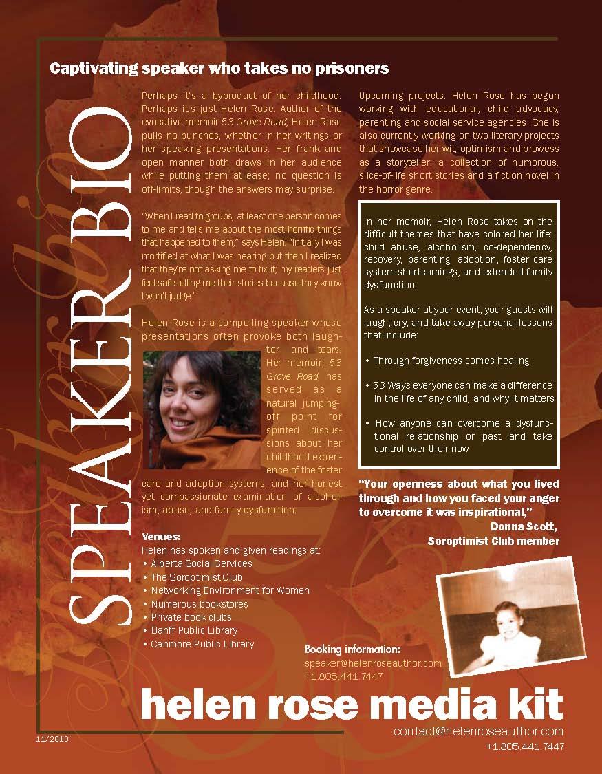 author speaker bio