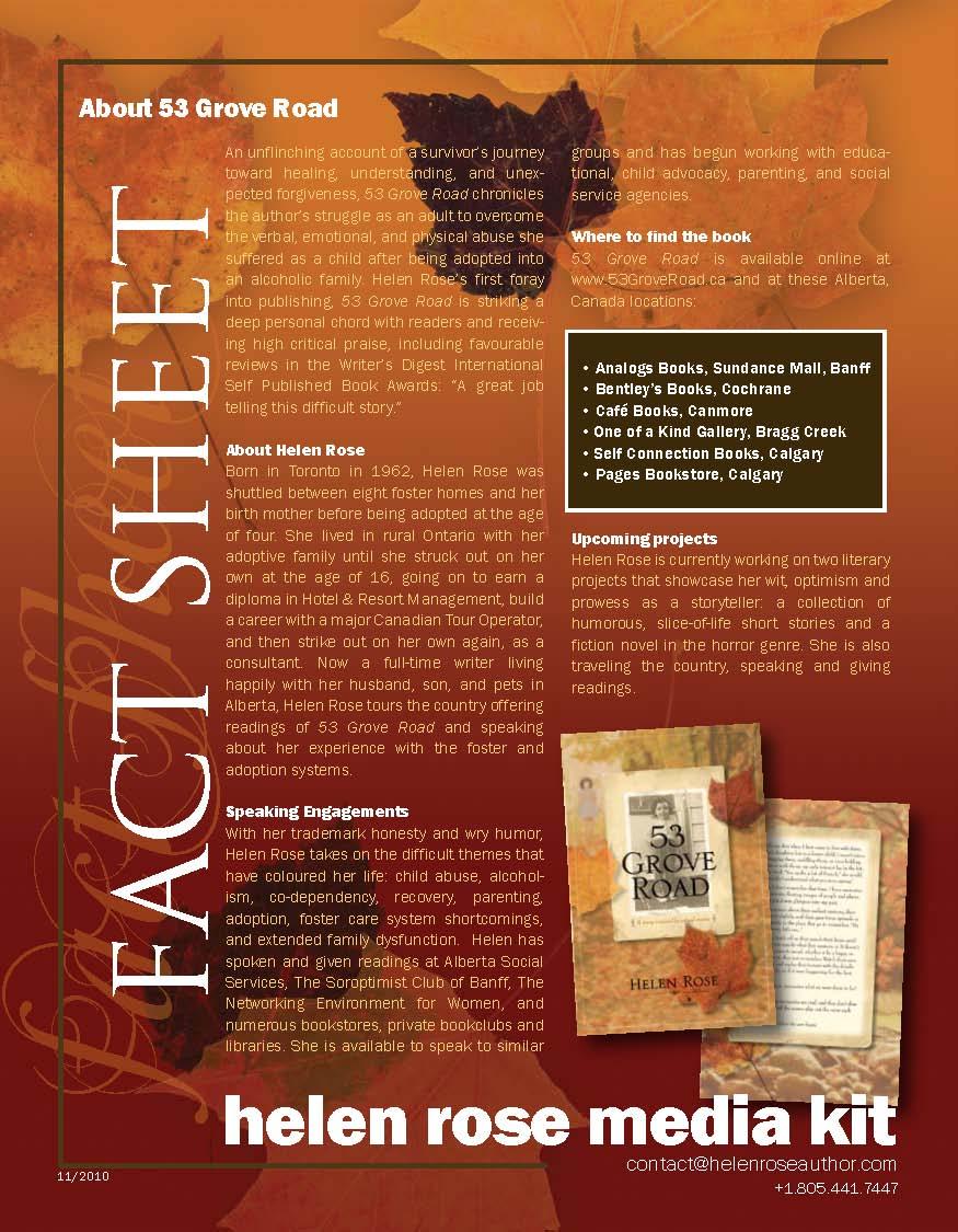 author fact sheet