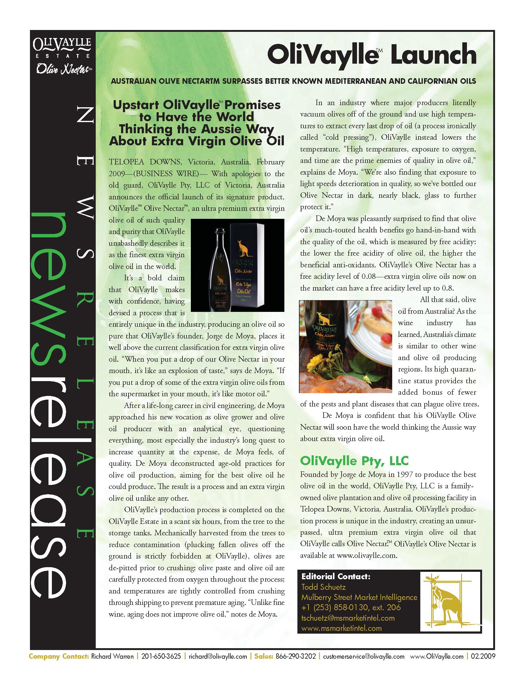 press release - magazine layout
