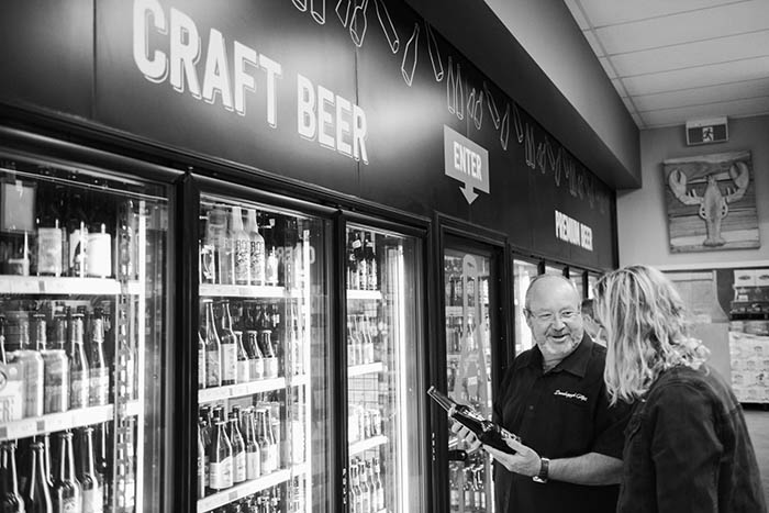 Mike Hills, manager, talking beer