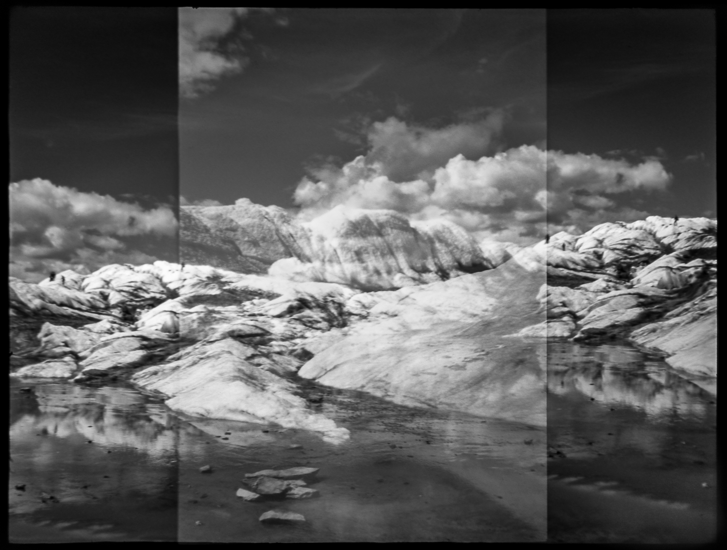 """Floating""  copyright 2015 Ellen Davis.  Taken at the Matanuska Glacier with a mini Diana"