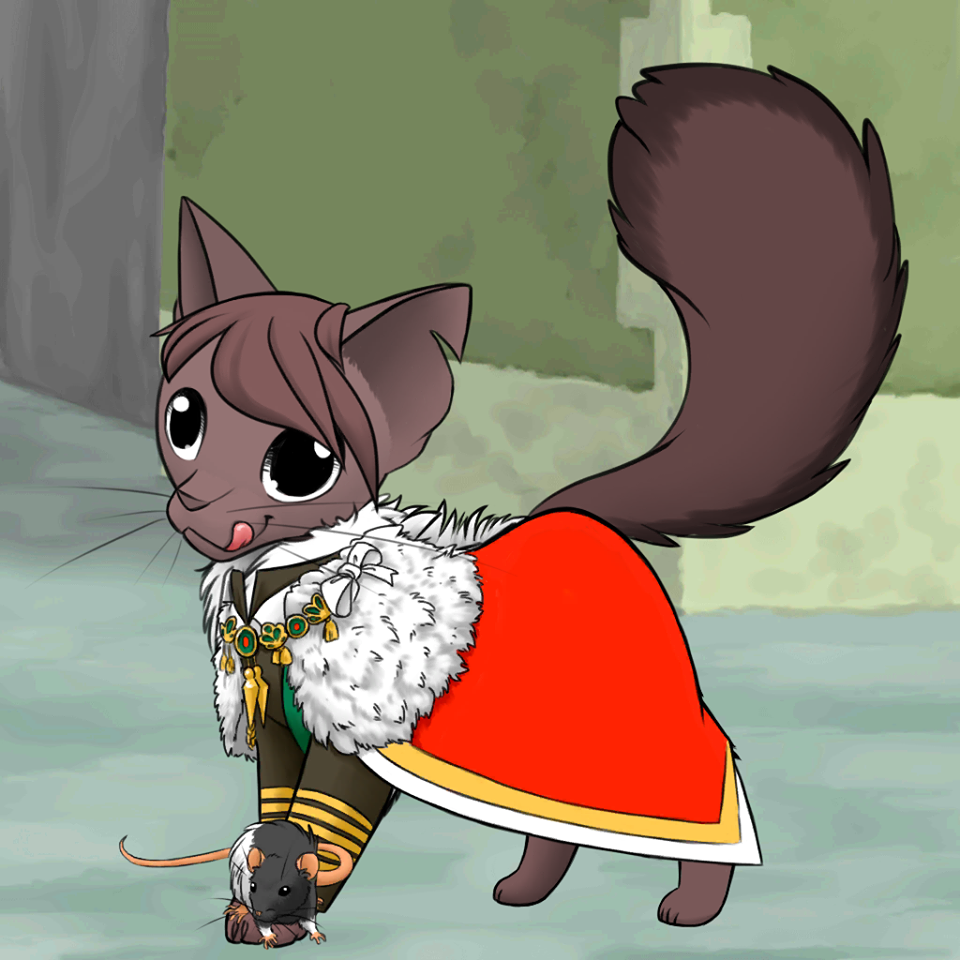 Dashbold as a Cat