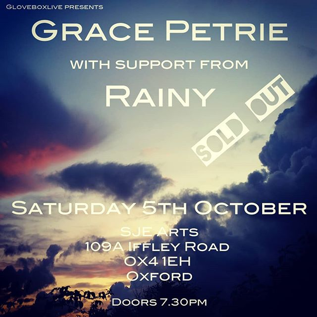 I'm so excited to be heading out to Oxford this Saturday to play a SOLD OUT show supporting @gracepetriemusic  @gloveboxlive #singersongwriter #fellfortheworld #oxfordlivemusic #oxfordgigs #gloveboxlive #sjearts #independentartist #solomusician #oxfordshiregigs #oxfordmusic