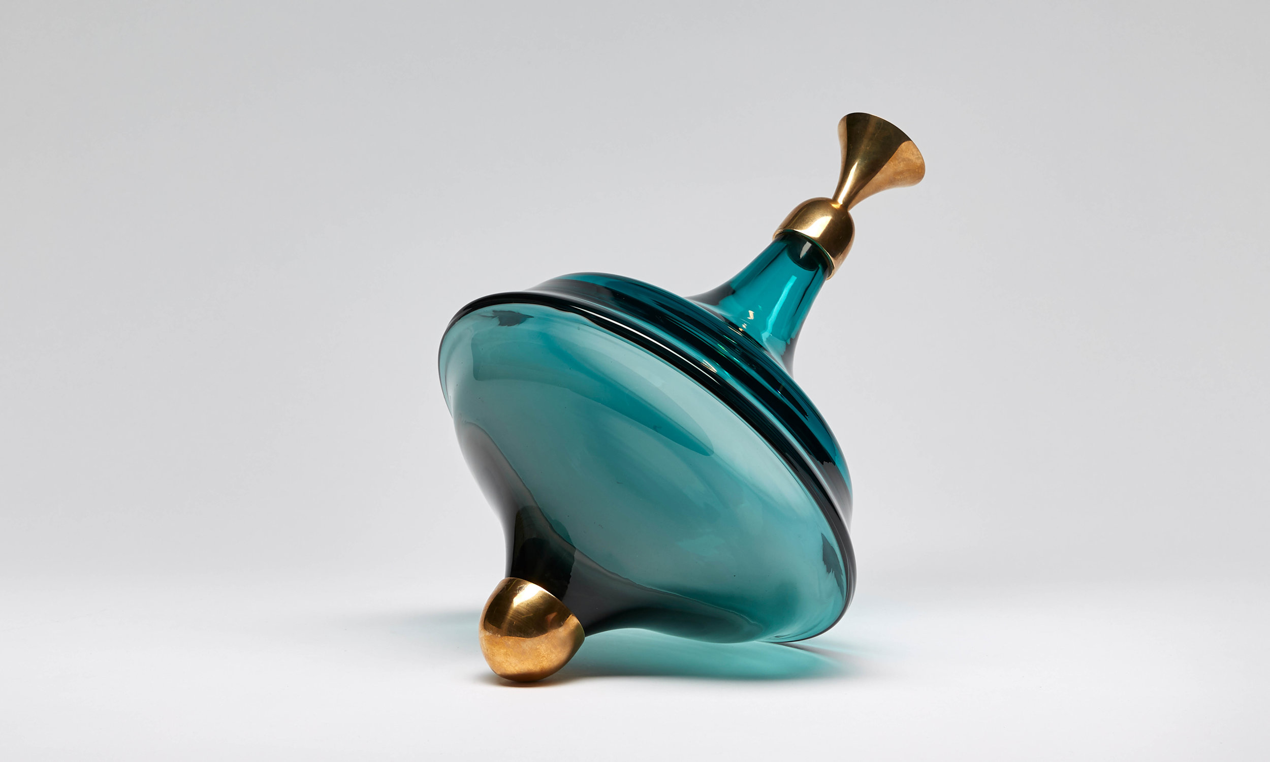 Trottola I - 2019  Free blown glass with bronze