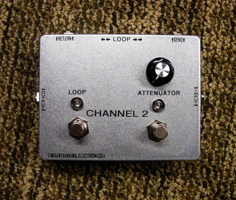 CHANNEL 2. Effects loop pedal with footswitchable input attenuator. One of ?