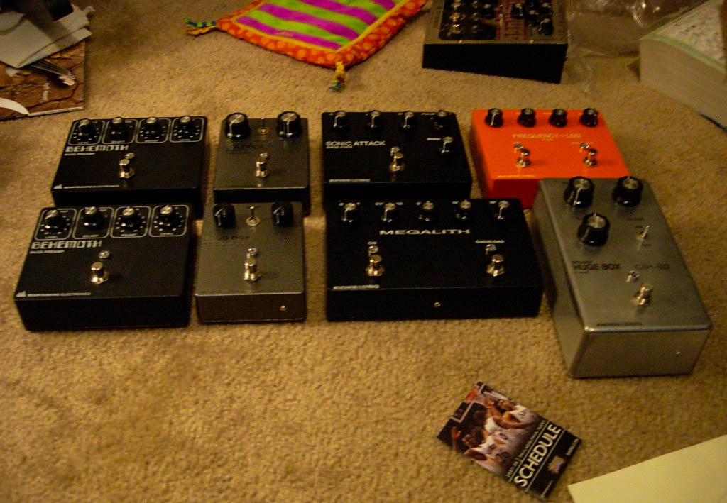 Early group shout including MEGALITH prototype. Heaaavily modified NY Big Muff.