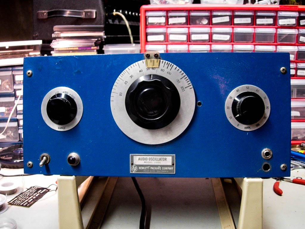 """Deep space oscillator"". HP 200C audio oscillator. My favorite instrument!"