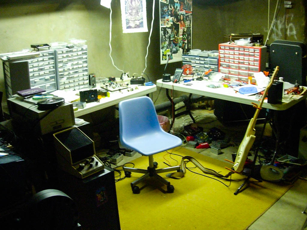 Early scene from the lab: Before the madness bomb hit.
