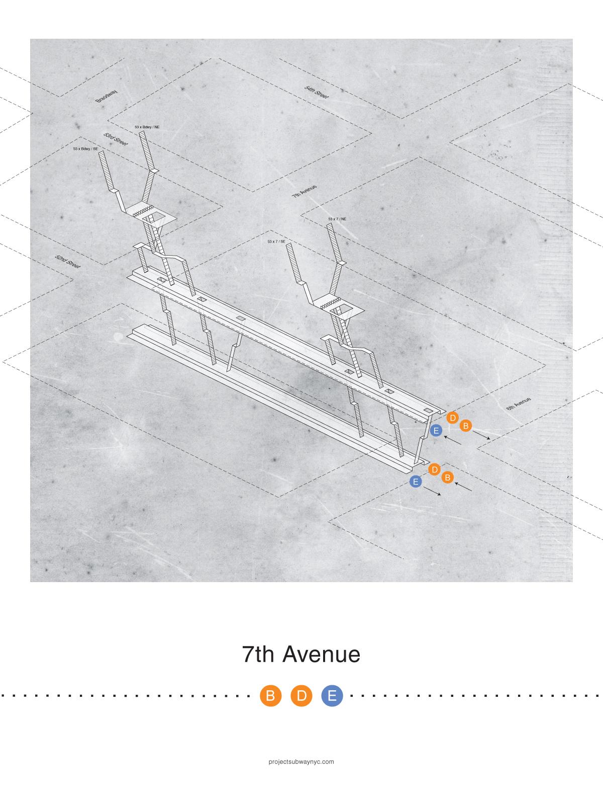 7th Avenue (B/D/E) Print