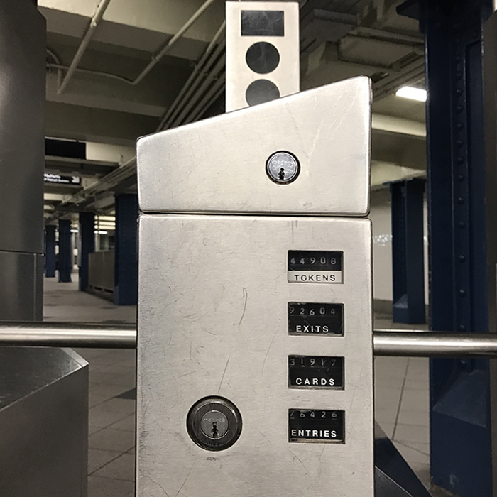Turnstile at Columbus Circle Station