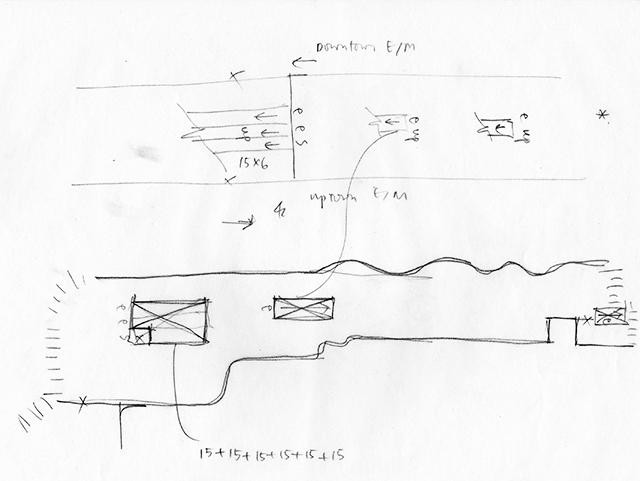 Sketch of Mezzanine Level at 53rd Street - Lexington Avenue Station