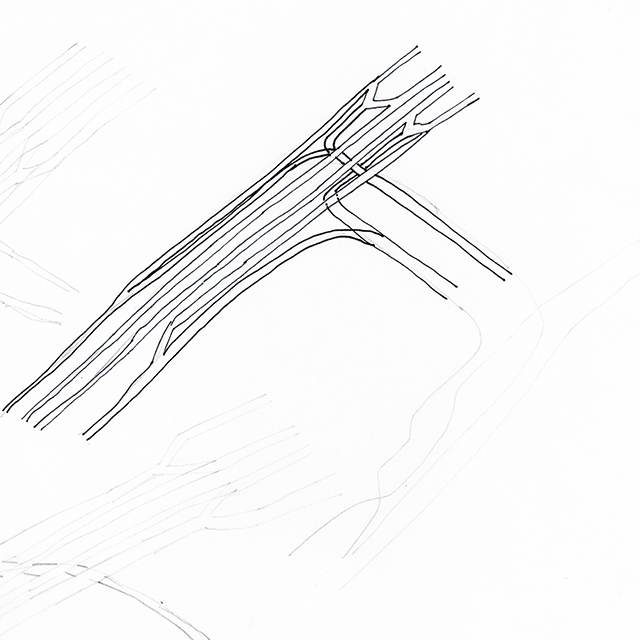 First Attempt at Sketching Tracks between Stations