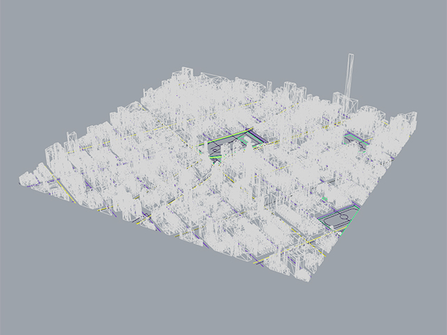 3D model from cadmapper.com (you can download up to 1 square km for free)