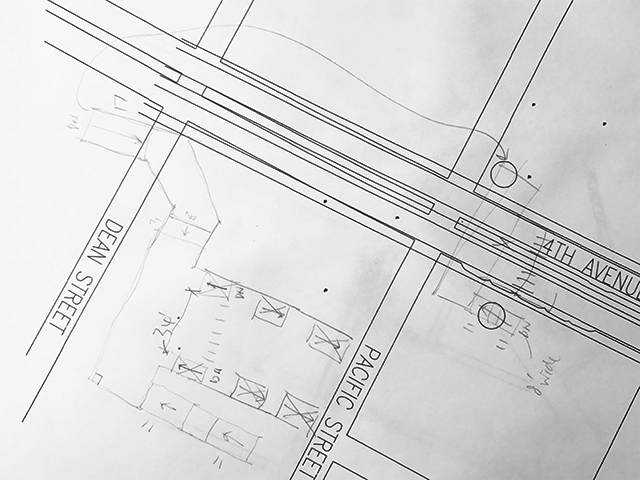 Second draft (pencil x hand) on first draft (computer x cad)