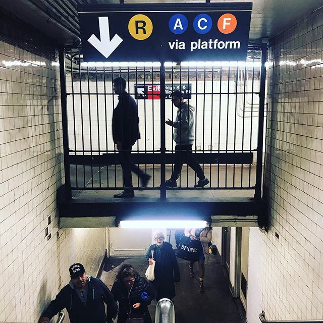 Do you know where you are going to? - Jay Street MetroTech station / A / C / F / R  #nyc #nycsubway #brooklyn #jaystreetmetrotech #architecture #underground #station #stairs