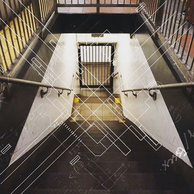 Dead End! - Delancey Street / Essex Street / F / M / J / Z . . . #Nyc #Subway #newyorkcity #nycsubwaystation NycSubway #DelanceyStreet #EssexStreet #manhattan #underground #deadend #Station #Gate #stair #cartography #lowerEastSide #Sketch #Architecture #Collage #FM #JZ . #projectsubwaynyc