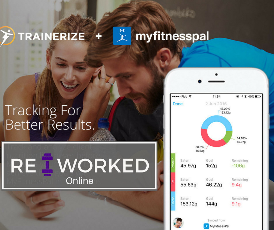 RE:WORKED Online - Track your workouts, progress, AND nutrition all in one place-- the RE:Worked Trainerize App! Get more detailed nutrition guidance from me, your trainer! Connect your myfitnesspal account so we can work together to better your nutrition.Click the image for more information.